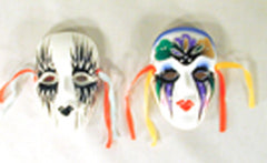 SMALL 4 INCH CERAMIC MASKS (Sold by the piece or dozen)