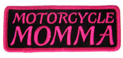 MOTORCYCLE MOMMA 4 IN EMBROIDERED PATCH (Sold by the piece)