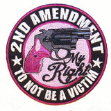 2ND AMENDMENT MY RIGHT PISTOL PATCH  (Sold by the piece)