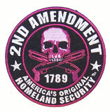 2ND AMENDMENT PURPLE SKULL PATCH (Sold by the piece)