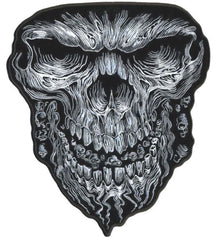 REAPER SKULL FACE 6 INCH PATCH (Sold by the piece)