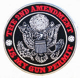 2ND AMENDMENT IS MY GUN PERMIT PATCH (Sold by the piece)