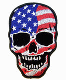 AMERICAN FLAG SKULL 4 INCH PATCH (Sold by the piece)