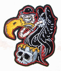 BUZZARD ON SKULL PATCH (Sold by the piece)