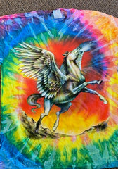 TIE DYE PEGASUS TEE SHIRT ( sold by the piece) Size MEDIUM