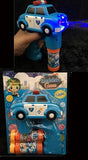 LIGHT UP POLICE CAR PD BUBBLE GUN WITH SOUND (sold by the piece )