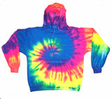 NEON RAINBOW SWIRL TIE DYED HOODIE (sold by the piece ) *-CLOSEOUT $ 12.50 EA