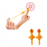 Sticky Stretchy Flying Rubber Chicken Finger Catapult Slingshot (sold by the piece or dozen)