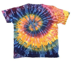 ADULT PETITE MARDI GRA SWIRL TIE DYED TEE SHIRT (sold by the PIECE OR dozen) * CLOSEOUT NOW ONLY $ 2.50 EA