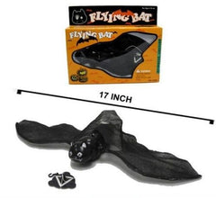 BATTERY OPERATED FLYING BAT w LIGHT UP EYES  (Sold by the piece) *- CLOSEOUT NOW $4.50 EA