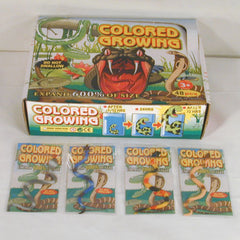 MAGIC GROWING SNAKES (Sold by the dozen) *- CLOSEOUT NOW 25 CENTS EA