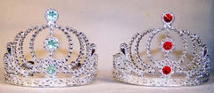 SILVER KIDS JEWEL TIARA CROWNS HATS (Sold by the dozen) *-CLOSEOUT NOW 75 CENTS EA