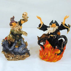 ASSORTED WIZARD WITH ANIMAL CERAMIC FIGURES (Sold by the piece) -* CLOSEOUT NOW ONLY $1.95 EA