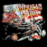 AMERICAN HAWG PIG ON MOTORCYCLE BIKER BLACK SHORT SLEEVE TEE-SHIRT  (Sold by the piece) LARGE ONLY