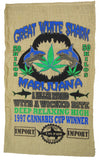 GREAT WHITE SHARK MARIJUANA BURLAP BAG ( sold by the piece )