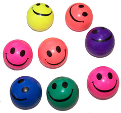 SMILE FACE 45mm SUPER HIGH BOUNCE BALLS ( sold by the dozen )