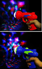 PSYCHEDELIC LASER LIGHT SHOW SPACE GUN PISTOL WITH NOISE (sold by the piece or dozen)