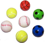 LARGE SPORTS 45mm SUPER HIGH BOUNCE BALLS ( sold by the dozen ) *- CLOSEOUT 25 CENTS EACH