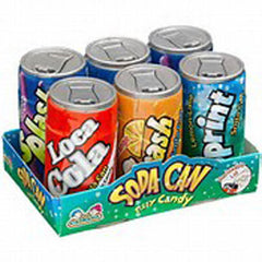 SODA CAN FIZZY CANDY ( sold by the dozen 6 Packs )