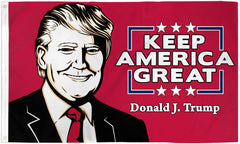 "DONALD TRUMP "" KEEP AMERICA GREAT "" 3 X 5 AMERICAN FLAG ( sold by the piece )"