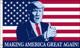 DONALD TRUMP MAKING AMERICA GREAT 3 X 5 AMERICAN FLAG ( sold by the piece )