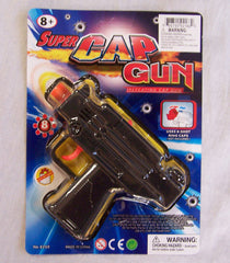 UZI BLACK PLASTIC 8 SHOT CAP GUN ( sold by the dozen )