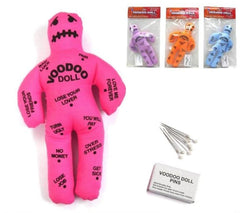 VOODOO DOLL WITH MAGIC PINS (Sold by the piece OR dozen )