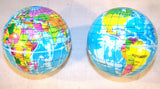 WORLD EARTH GLOBE 3 INCH EARTH BOUNCE / SQUEEZE BALLS ( sold by the dozen )