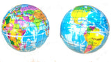 WORLD EARTH GLOBE 4 INCH EARTH BOUNCE / SQUEEZE BALLS ( sold by the dozen )
