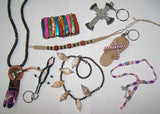 ALL KINDS OF ASSORTED JEWELRY / KEYCHIANS / BRACELETS / EARRINGS ( sold by the dozen ) ** CLOSEOUTN NOW 25 CENTS EA