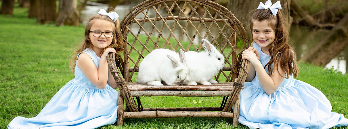 girls easter dresses photos with bunny