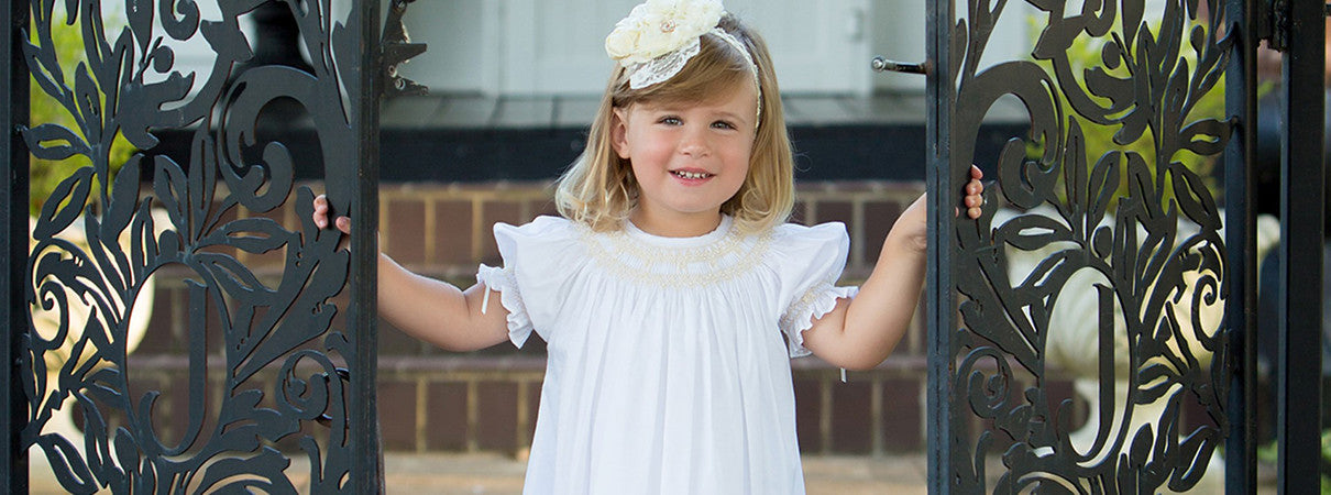 Flower Girl Dress Toddler Lace Smocked