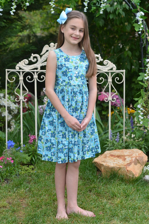 Blue Floral Dress Strasburg Children