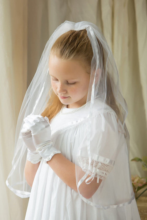 Communion Veil Ribbon Edge Strasburg Children