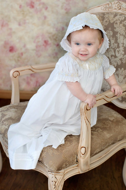 Elizabeth - Smocked Christening Strasburg Children