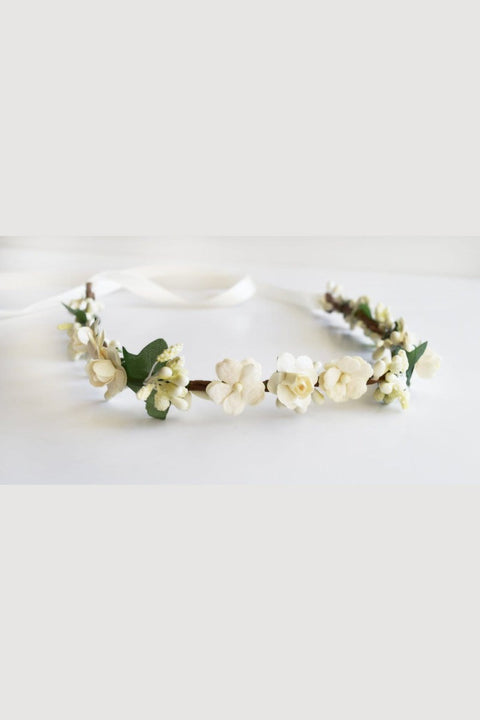Ivory Floral Headpiece Strasburg Children