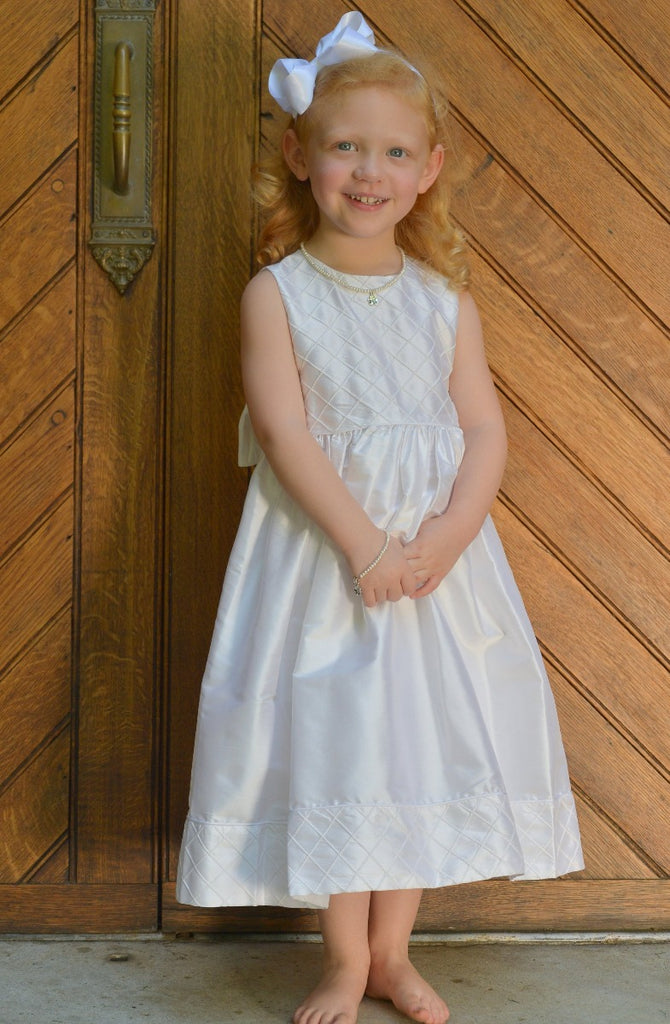 LuLu - White Silk Dress Strasburg Children