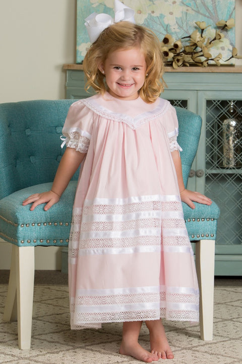 Savannah Lace Heirloom Pink Strasburg Children