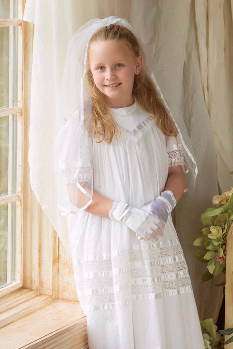 Savannah - Lace White Dress Strasburg Children