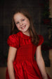 Scarlett - Red Smocked Dress Strasburg Children