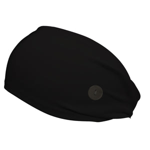 Black Stealth Hiji®Band  Concussion Headband with Buttons