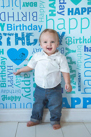 Green Happy Birthday - Backdrop Shop