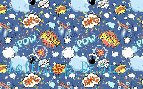 Bang Pow Boom - Backdrop Shop