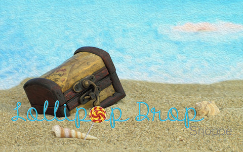 Beached Treasure Chest - Backdrop Shop