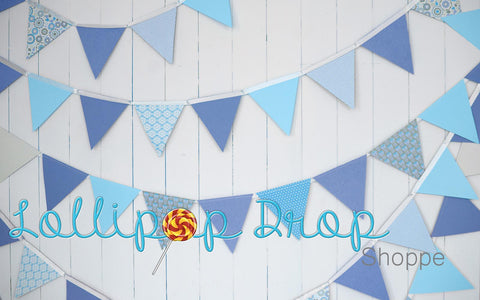 Blue Birthday Banner - Backdrop Shop