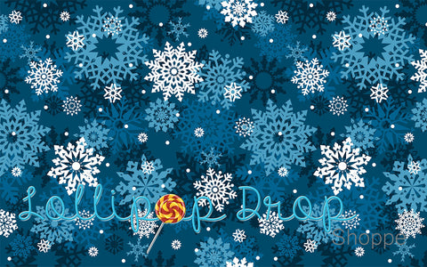 Blue Snowflakes - Backdrop Shop