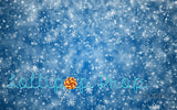 Blue & White Snowflakes - Backdrop Shop