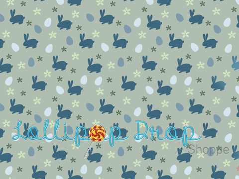 Blue Easter Bunnies - Backdrop Shop
