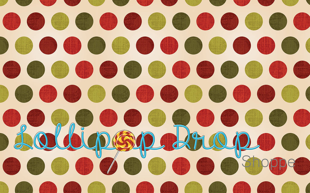 Christmas Dots - Backdrop Shop