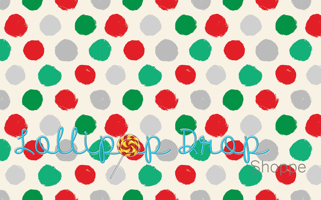Christmas Stamped Polka Dots - Backdrop Shop